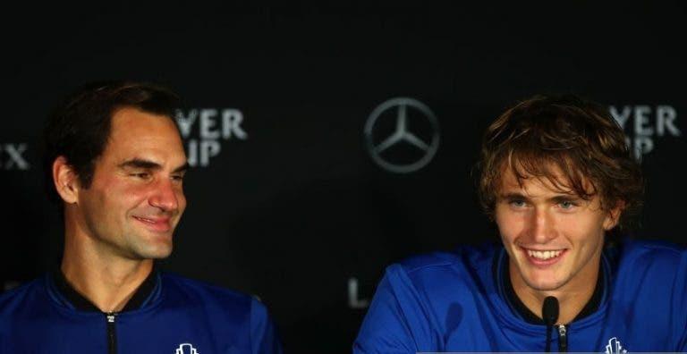 Federer novo 'empresário' de Zverev? Suíço mantém tabu e recusa responder a questão