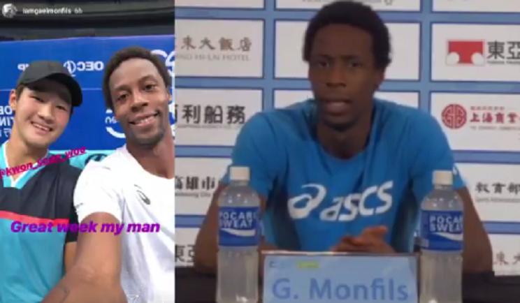 Monfils pediu uma selfie… ao adversário depois da final no Taiwan