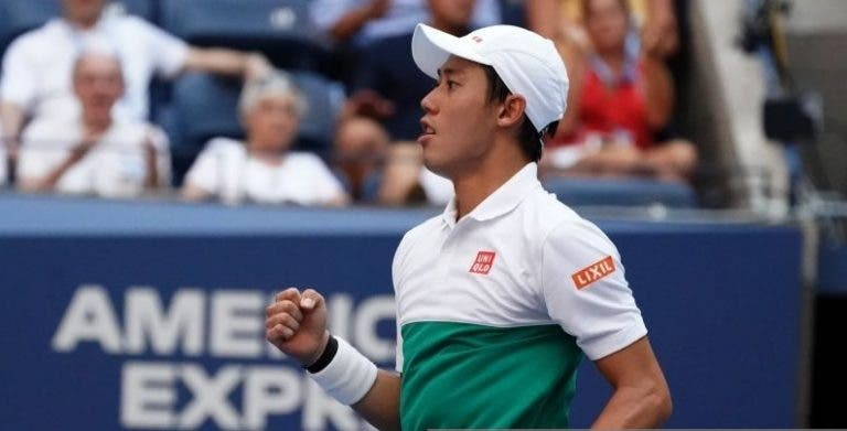Nishikori domina jovem compatriota na estreia em Tóquio