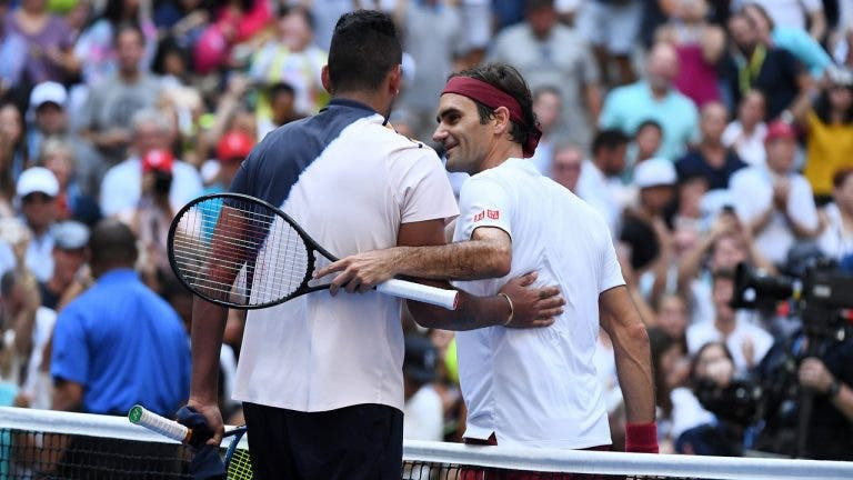 Federer defende Kyrgios: «Não acho que deva ser suspenso»