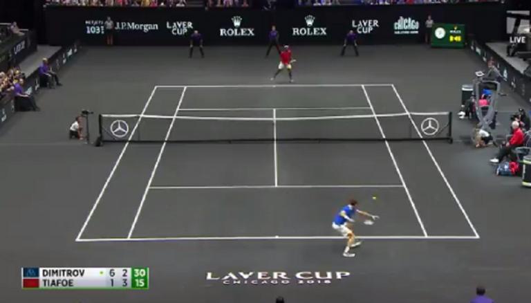 [VÍDEO] Show. Tiafoe e Dimitrov jogam ponto louco com 37 pancadas na Laver Cup
