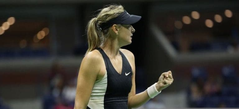 Sharapova bate Ostapenko e regressa aos 'oitavos' do US Open