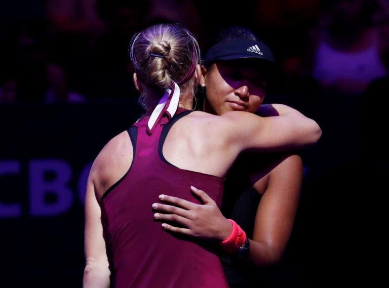 Osaka desiste e Bertens garante qualificação para as 'meias' nas WTA Finals