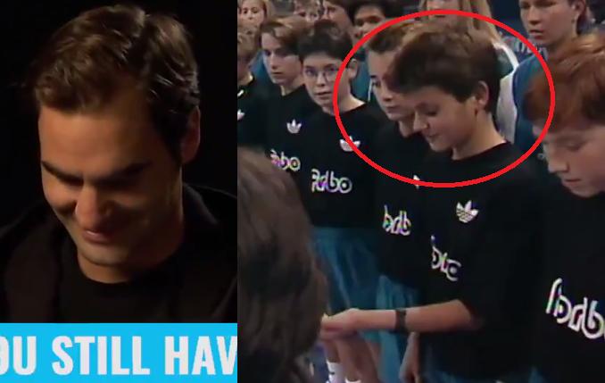 [VÍDEO] Federer vê vídeo de quando era apanha-bolas: «Serei sempre um deles»