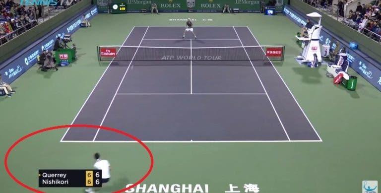 [VÍDEO] Kei Nishikori protagonista de passing shot de outro Mundo