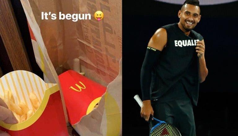 Kyrgios confirma que não joga mais este ano e celebra início das férias… no McDonalds