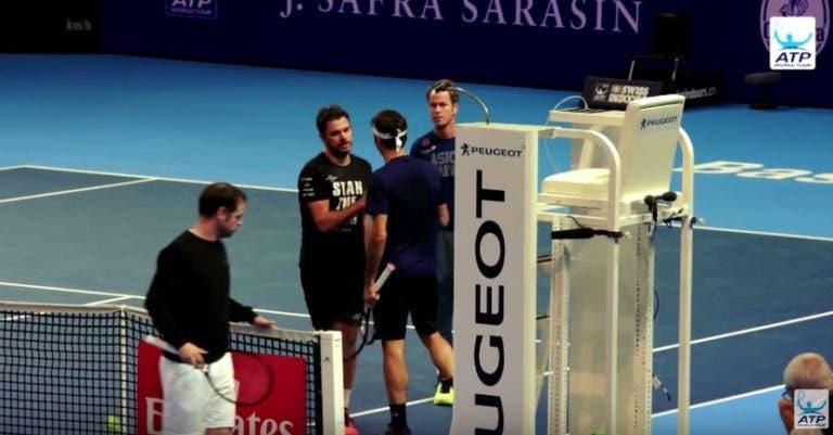 [VÍDEO] Federer e Wawrinka prepararam juntos o ATP 500 de Basileia