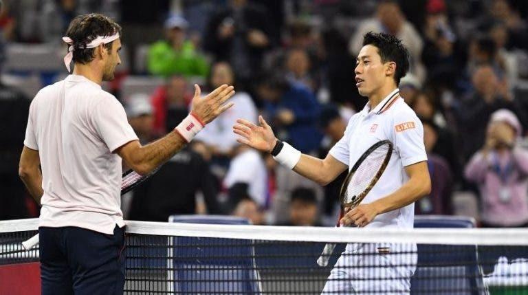 [VÍDEOS] Monumental. Os melhores pontos do duelo entre Federer e Nishikori