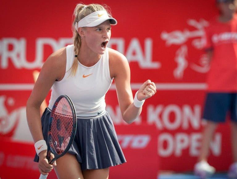 Yastremska, jovem de apenas 18 anos, conquista em Hong Kong o primeiro título da carreira