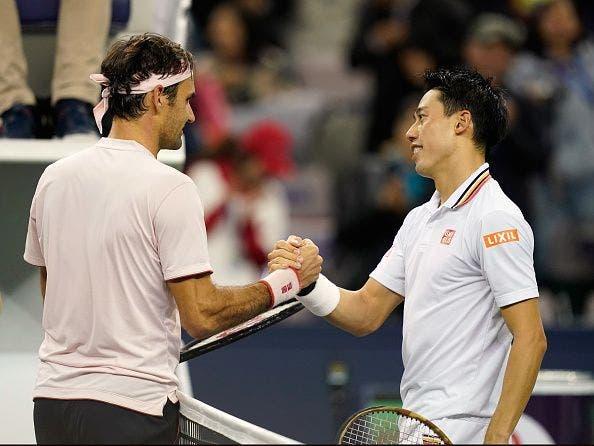 Nishikori: «É incrível ver como o Federer joga a um nível tão alto, ele trabalha muito mais que toda a gente»