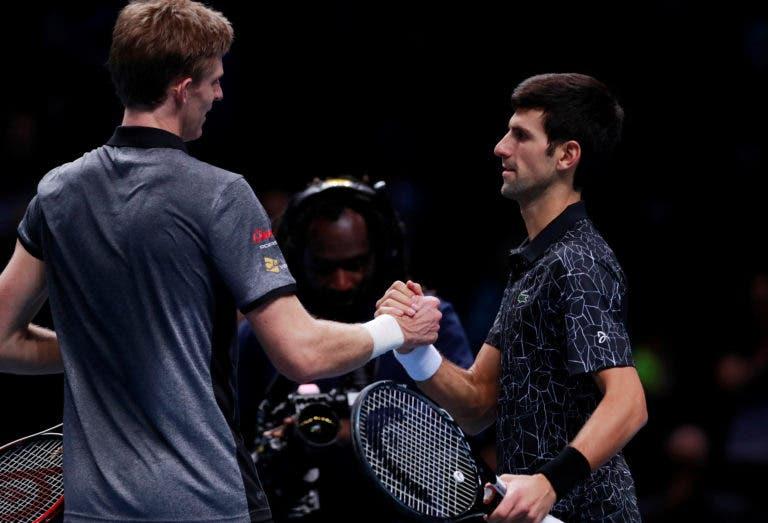 Anderson rendido a Djokovic: «Está a jogar o melhor ténis da carreira»