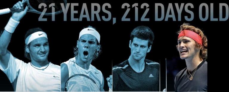 Como eram os números do Big 3 com a idade de Zverev?