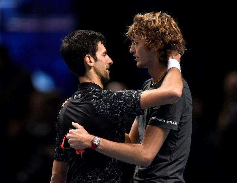 Djokovic para Zverev: «Jogaste muito melhor do que na fase de grupos»