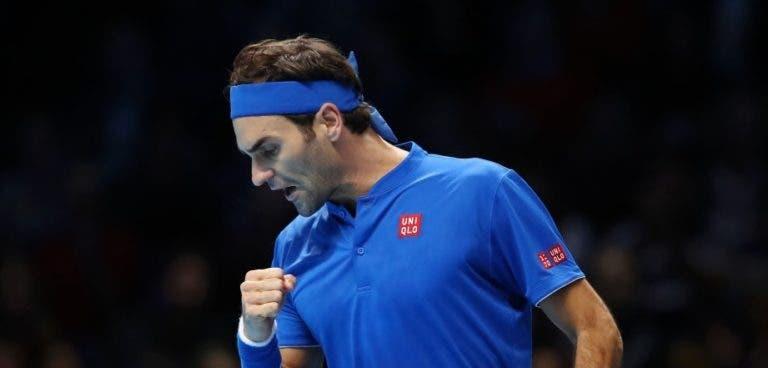 Federer derrota Anderson e termina o seu grupo… em PRIMEIRO LUGAR