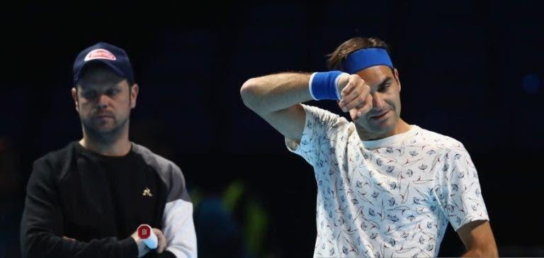 [FOTOS] De Lendl ao famoso 'pijama' de Federer: os craques treinaram na O2 Arena