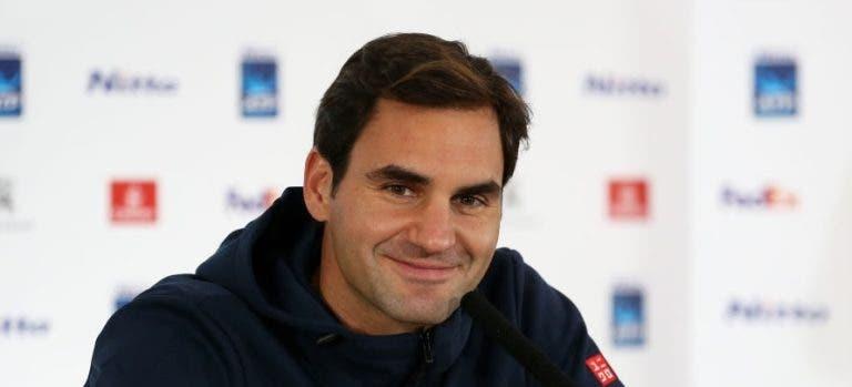 Federer e as queixas de que a época é longa: «Podia agora sair desta porta e ir de férias»