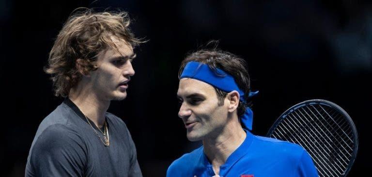 Federer defende Zverev: «Ele pediu-me desculpa e mandei-o calar a boca»