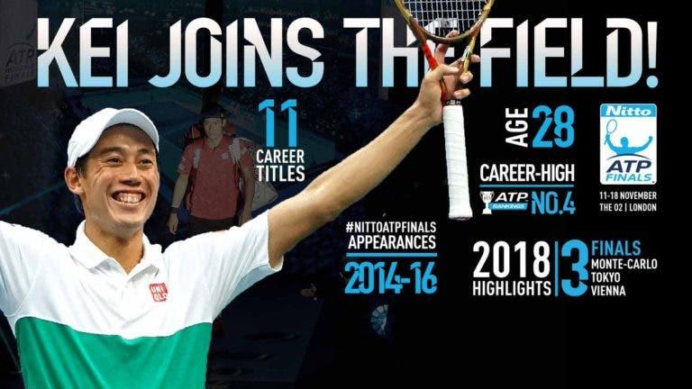 OFICIAL. Del Potro desiste e Nishikori qualifica-se para as ATP Finals