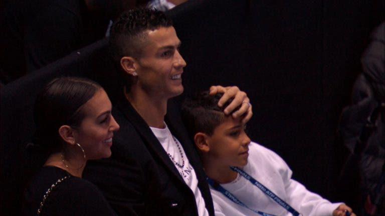 [FOTOS E VÍDEOS] Cristiano Ronaldo levou Georgina e Cristianinho às ATP Finals