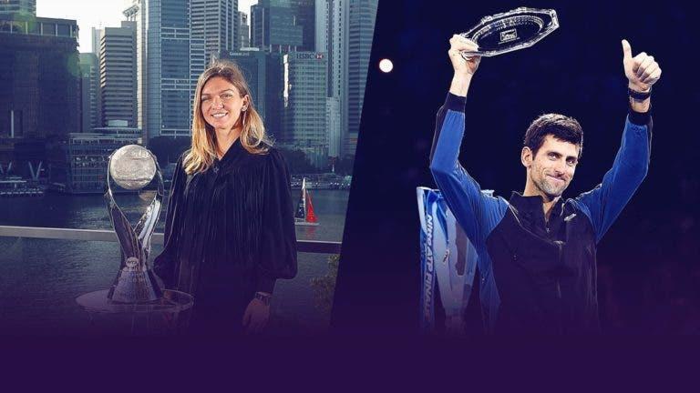 Djokovic e Halep eleitos campeões do Mundo pela ITF