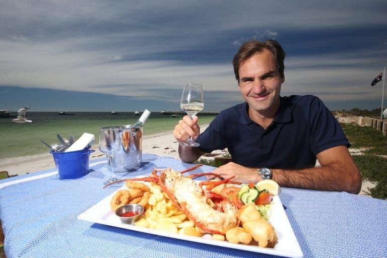 A invejável vida de turista de Federer em Perth