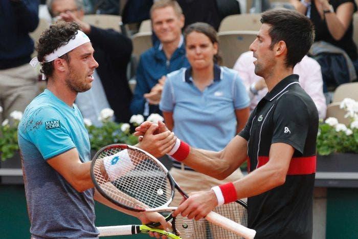 Cecchinato recorda vitória sobre Djokovic: «Demorei um mês a perceber que lhe tinha vencido em Roland Garros»