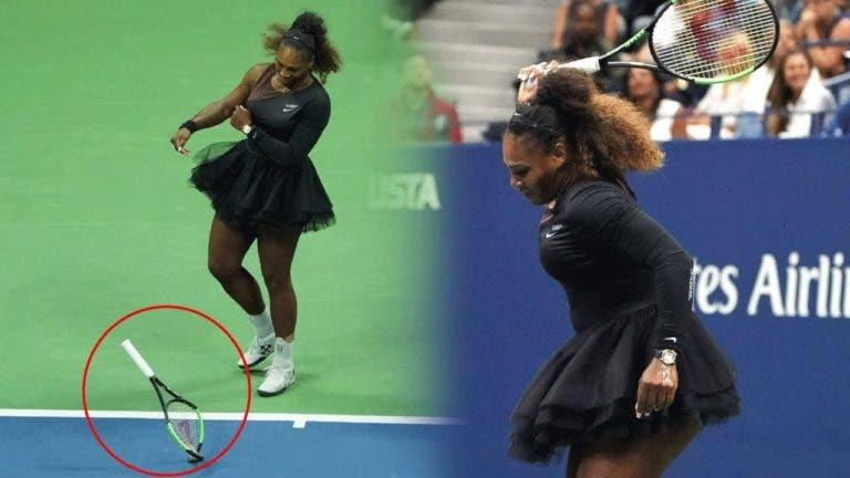 Serena Williams: «Partir raquetas não é solução para nada»