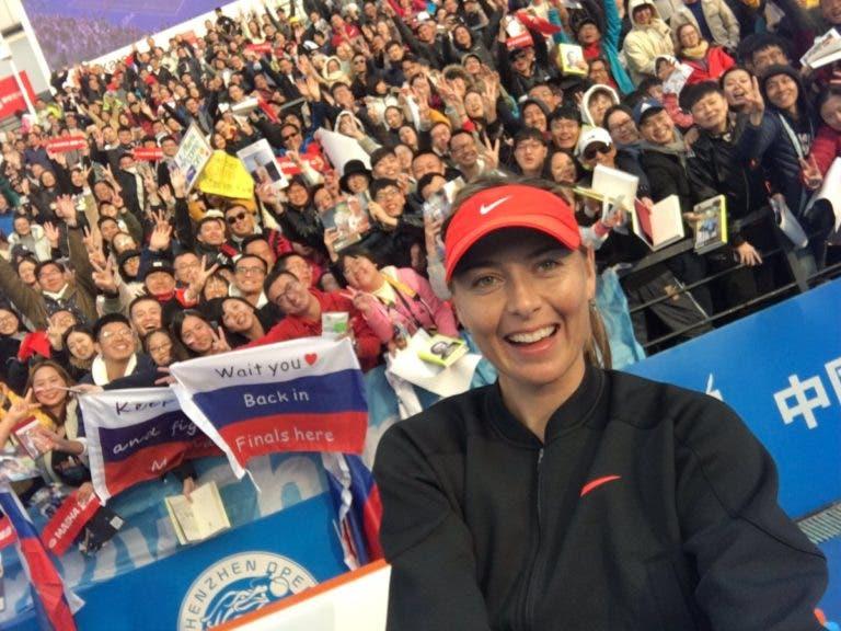 Sharapova carimba entrada em 2019 com triunfo em dois sets