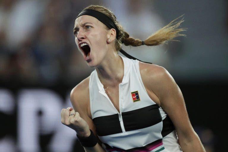 Kvitova arrasa mas Pliskova perde de 5-1 acima no terceiro set