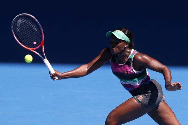 Sloane Stephens joga a bom nível e avança para a segunda ronda do Australian Open