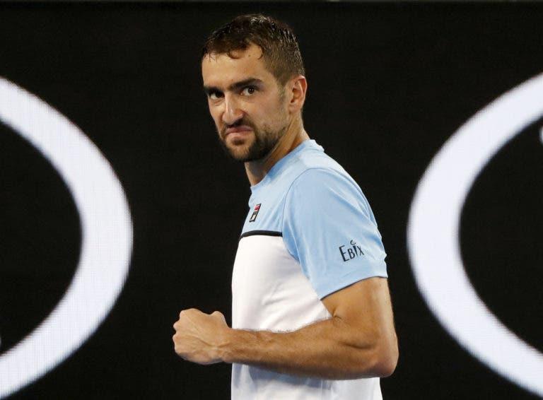 Cilic joga a muito bom nível e despacha Tomic rumo à 2.ª ronda do Australian Open