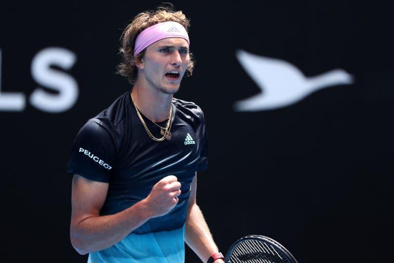 Zverev começa mal mas vence sem problemas rumo à 2.ª ronda do Australian Open