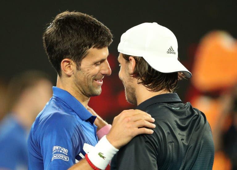 Pouille: «Quando o Djokovic joga assim é o melhor tenista do mundo»
