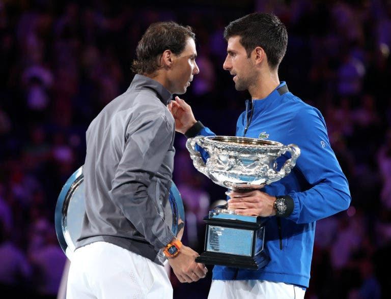 Moya diz que o problema de Nadal contra Djokovic… é mental