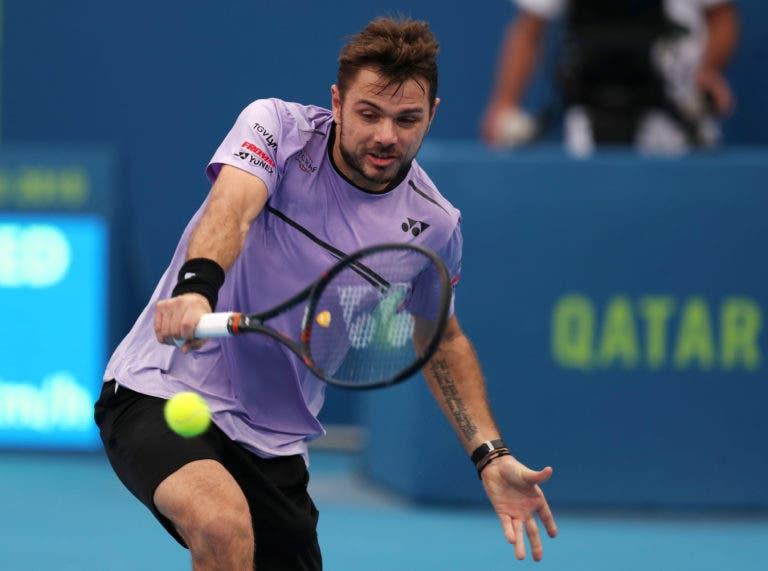 Wawrinka volta a jogar a bom nível e avança para os 'quartos' em Doha