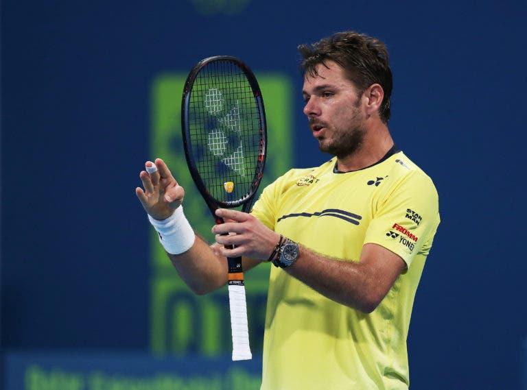 Wawrinka é derrotado por Bautista Agut e está fora do ATP 250 de Doha