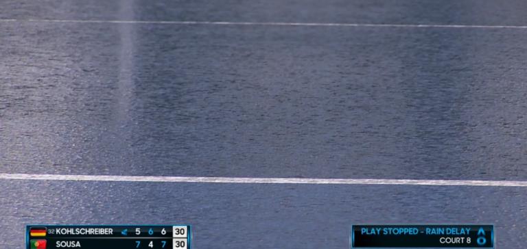 Interrompido! Chuva suspende temporariamente a jornada no Australian Open