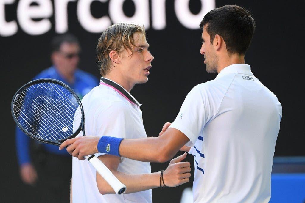Djokovic fica fã de Shapovalov: «Gosto da forma como joga, da mentalidade e da sua postura»