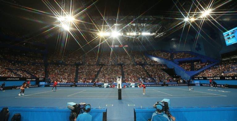 Federer e Serena juntos acabou em recorde de espectadores na Hopman Cup