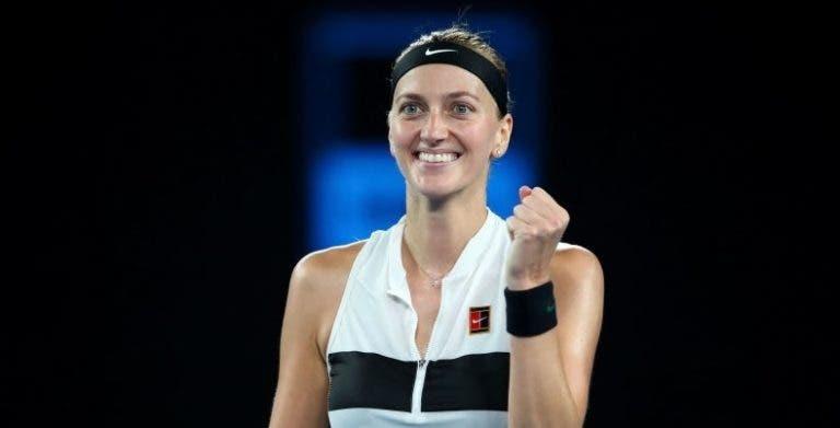 Kvitova arrasa na estreia em Estugarda e continua a sonhar com a liderança de Osaka