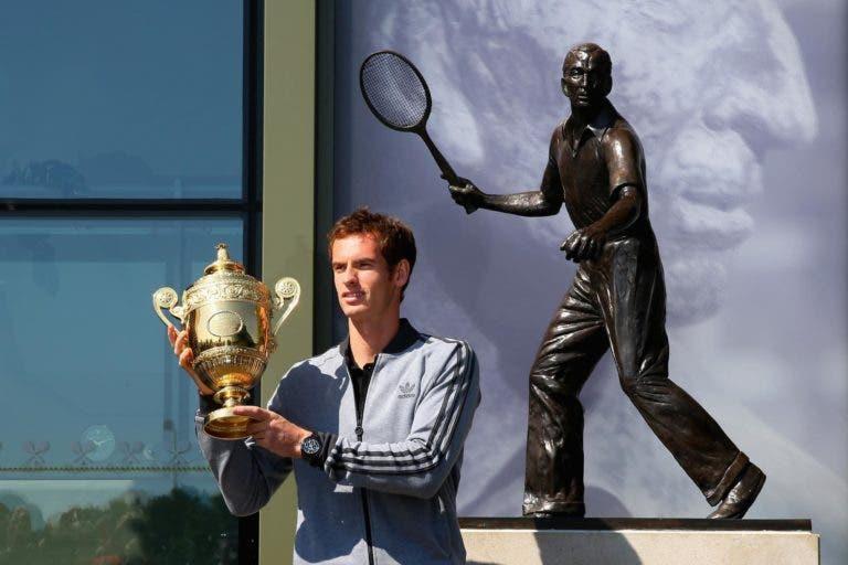 Wimbledon planeia erguer uma estátua a Murray