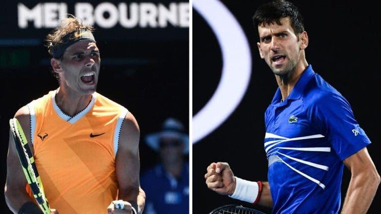 Nadal vs. Djokovic: o primeiro 'Rafole' de 2020 joga-se este domingo