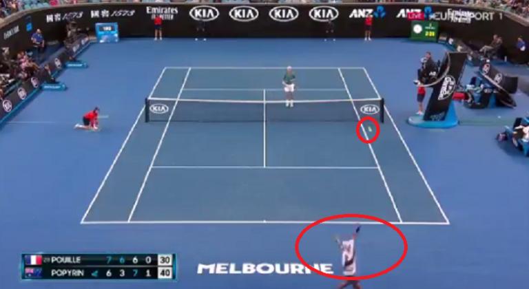[VÍDEO] Popyrin ganha o ponto simplesmente brutal em Melbourne