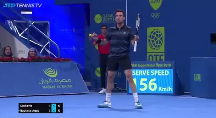 [VÍDEO] Bautista ganhou a Djokovic com pontos… assim