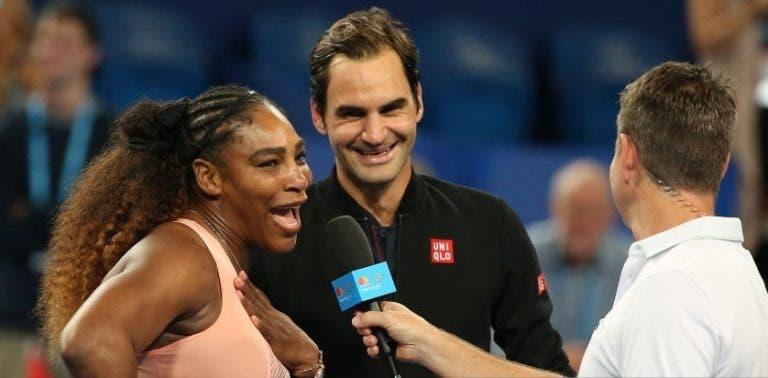 Serena rendida a Federer: «É o melhor de todos os tempos, o serviço dele é impossível de ler»
