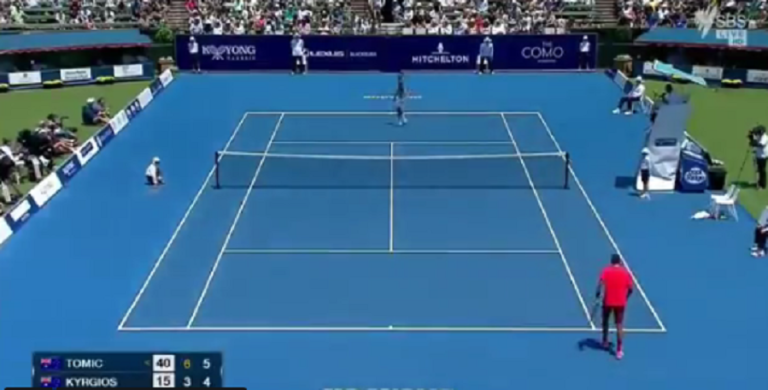[VÍDEO] O match point para os apanhados de Tomic e Kyrgios