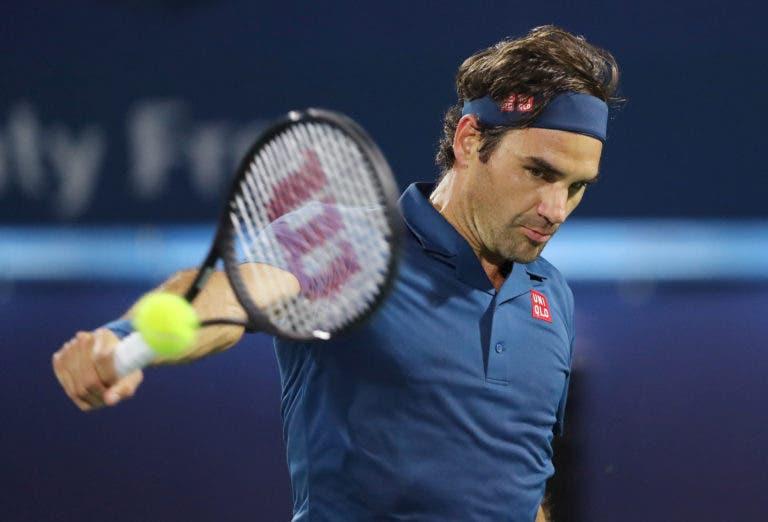 A incrível ordem de jogos para quarta-feira no Dubai: Federer, Nishikori, Coric vs Berdych, Tsitsipas e muito mais