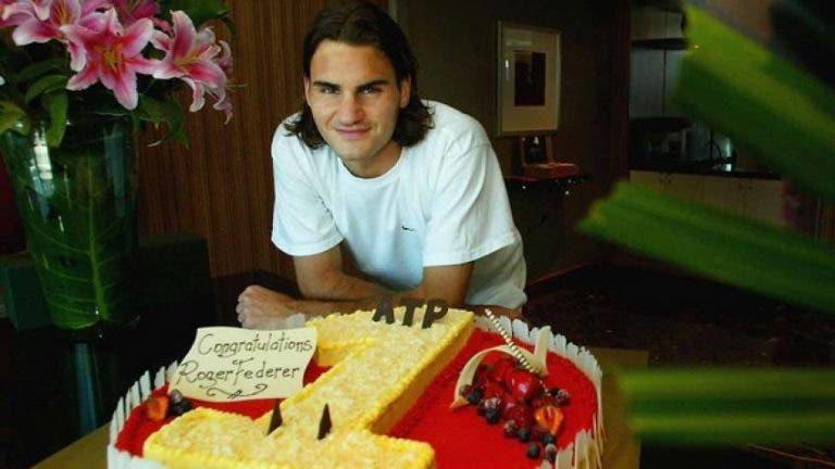 [VÍDEO] 2 de fevereiro de 2004. Federer tornou-se número 1 pela primeira vez há 15 anos