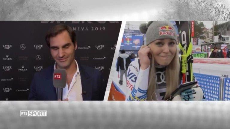 [VÍDEO] Após fazer a última prova da sua (gloriosa) carreira, Lindsey Vonn ficou louca com mensagem de Federer