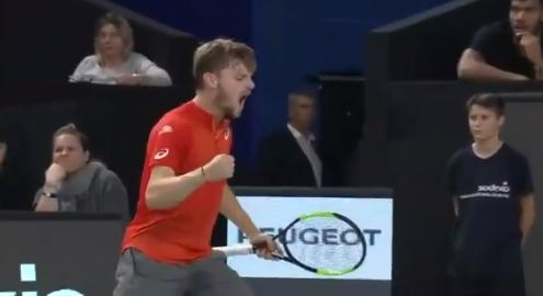 [VÍDEO] O espetacular break point de Goffin frente a Paire que o colocou a um passo da vitória